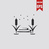 Pond icon.Vector illustration.
