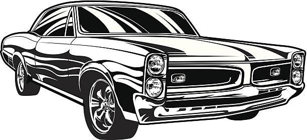 Pontiac GTO Illustration of a 1966 Pontiac GTO. Download includes: EPS, JPG, PDF formats. sports car stock illustrations