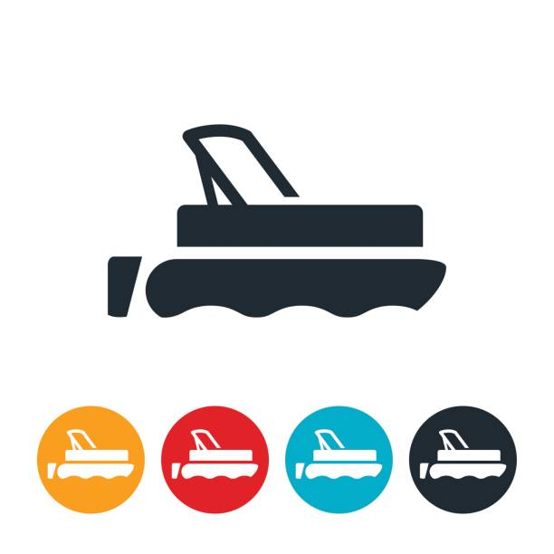 Top Royalty Free Pontoon Boat Clip Art, Vector Images & Illustrations  YH65