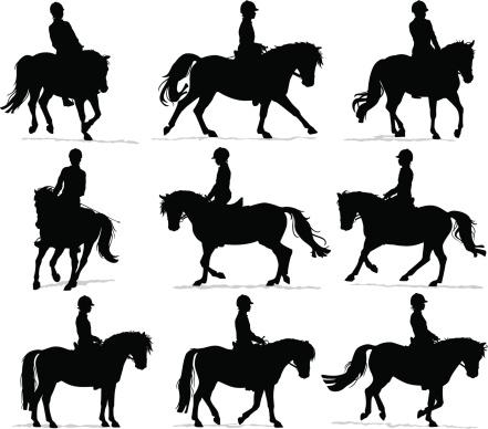 Pony Rider Silhouettes