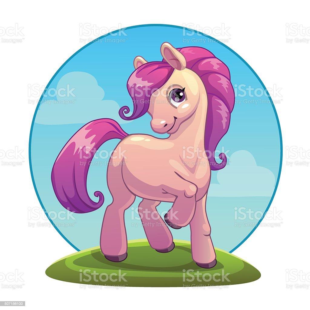 Pony vector art illustration