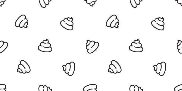 Poo Seamless pattern vector Cartoon isolated doodle illustration repeat wallpaper tile background Poo Seamless pattern vector Cartoon isolated doodle illustration repeat wallpaper tile background bathroom backgrounds stock illustrations
