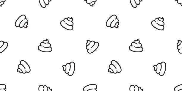 Poo Seamless pattern vector Cartoon isolated doodle illustration repeat wallpaper tile background Poo Seamless pattern vector Cartoon isolated doodle illustration repeat wallpaper tile background bathroom patterns stock illustrations