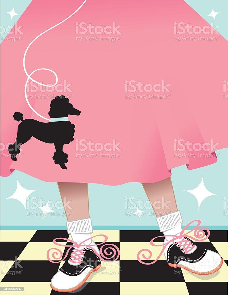 Poodle Skirt Background vector art illustration