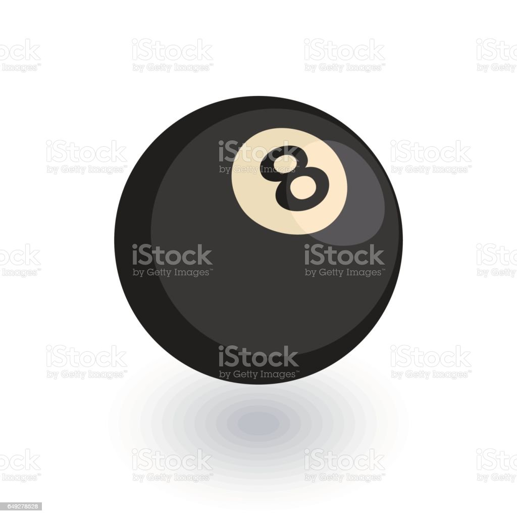 Pool 8 ball, Billiard symbol isometric flat icon. 3d vector vector art illustration