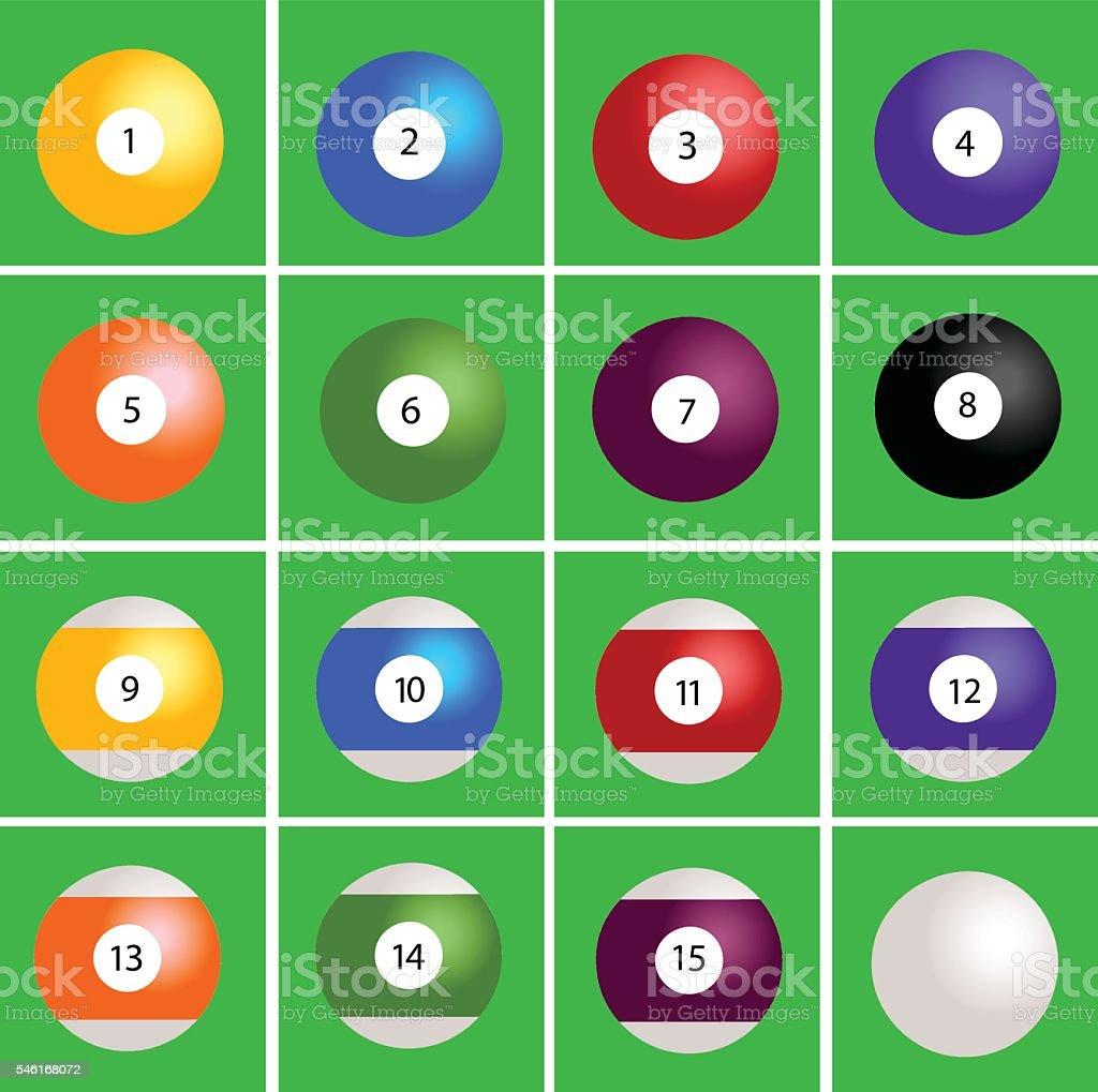 Pool Billiard  Balls vector art illustration