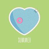 Pool heart in summer