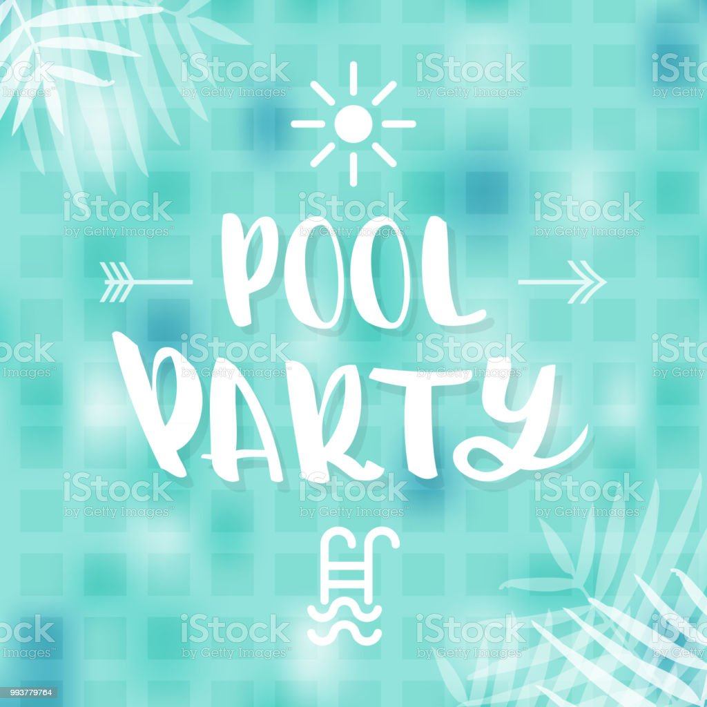 Pool Party Flyer Poster Invitation Or Banner Template Vector