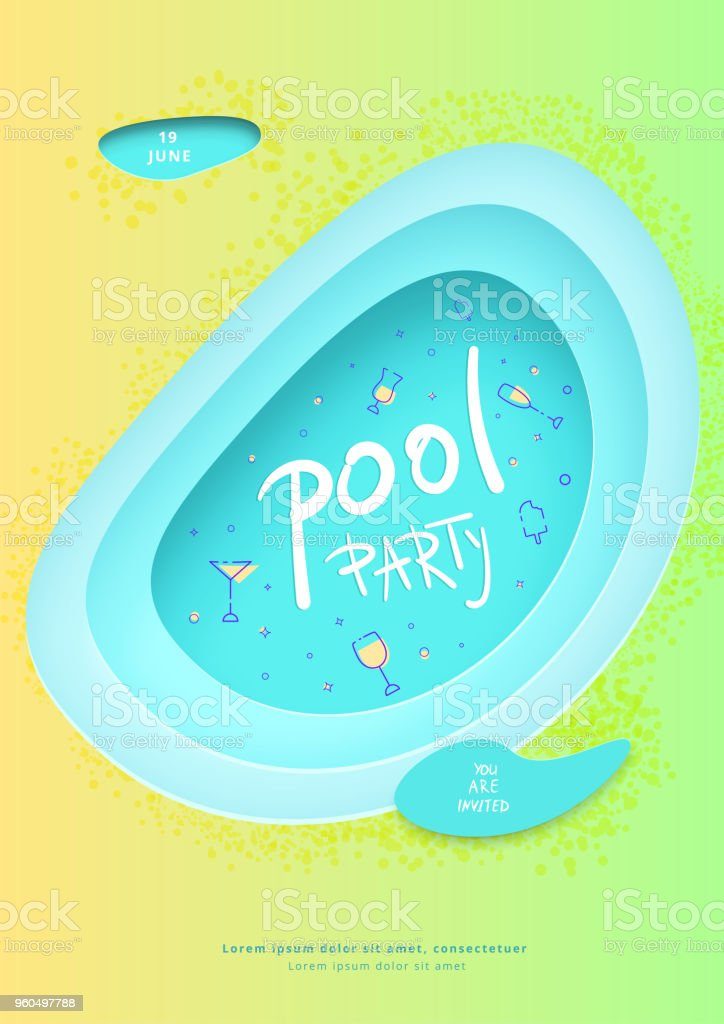 pool party flyer vector illustration stock vector art more images