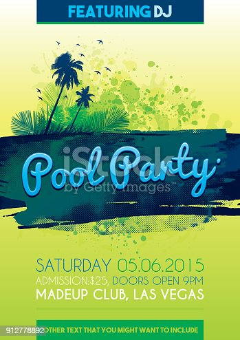 istock pool party invitation 912778892