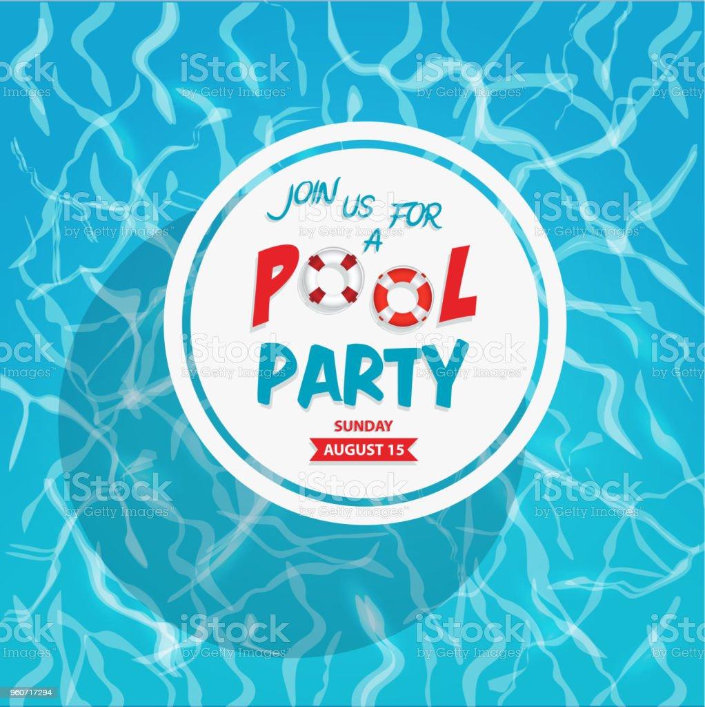 Pool Party Einladung Stock Vektor Art und mehr Bilder von ...