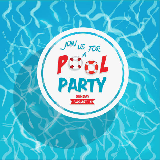 Pool Party Invitation Pool Party Invitation pool party stock illustrations