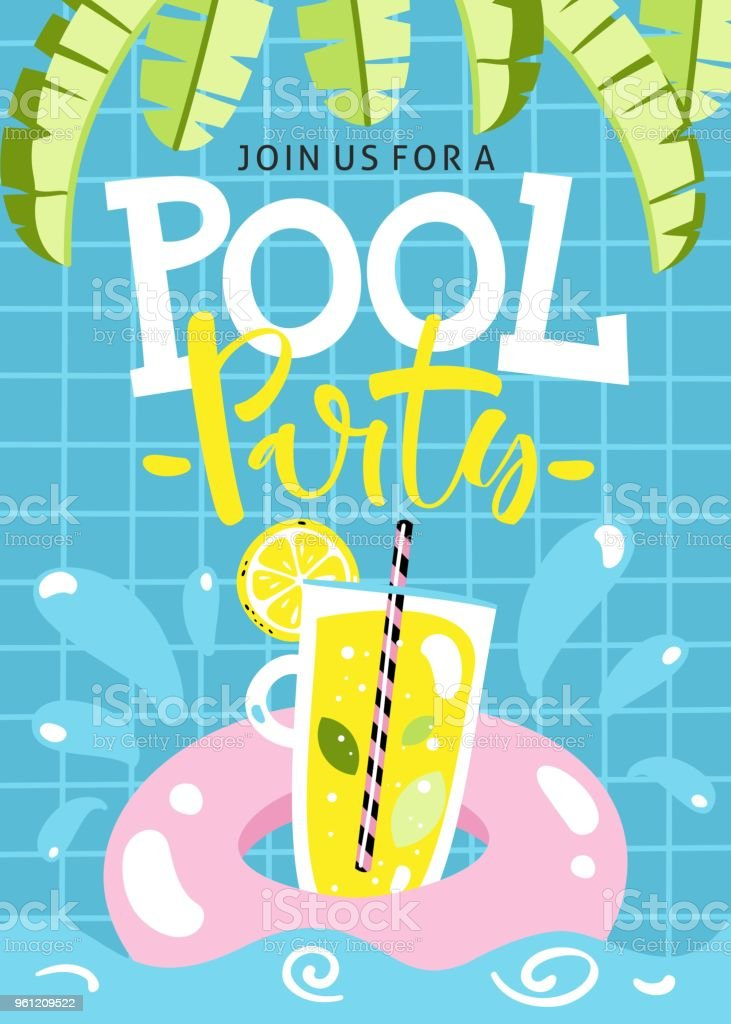 pool party invitation vector illustration stock vector art more