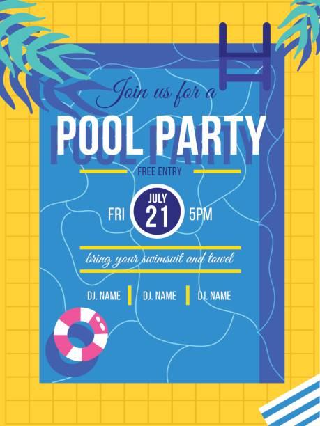 pool-party - schwimmpflanzen stock-grafiken, -clipart, -cartoons und -symbole