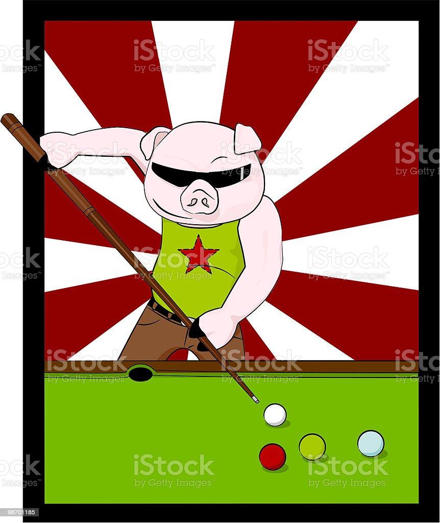 pool playing pig [ hustler ] royalty-free pool playing pig hustler stock vector art & more images of adult