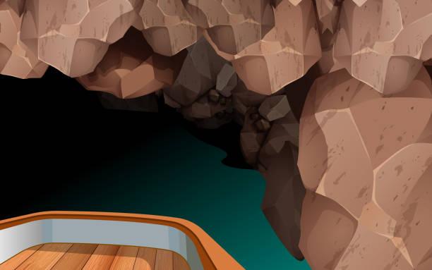 bildbanksillustrationer, clip art samt tecknat material och ikoner med solnedgång i poolen - stalagmit