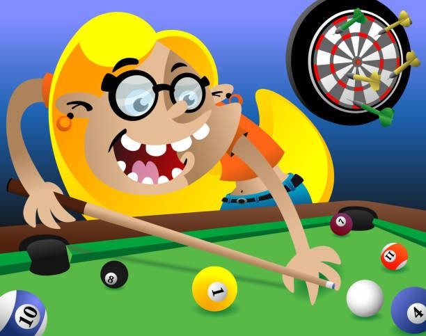 Pool Table vector art illustration