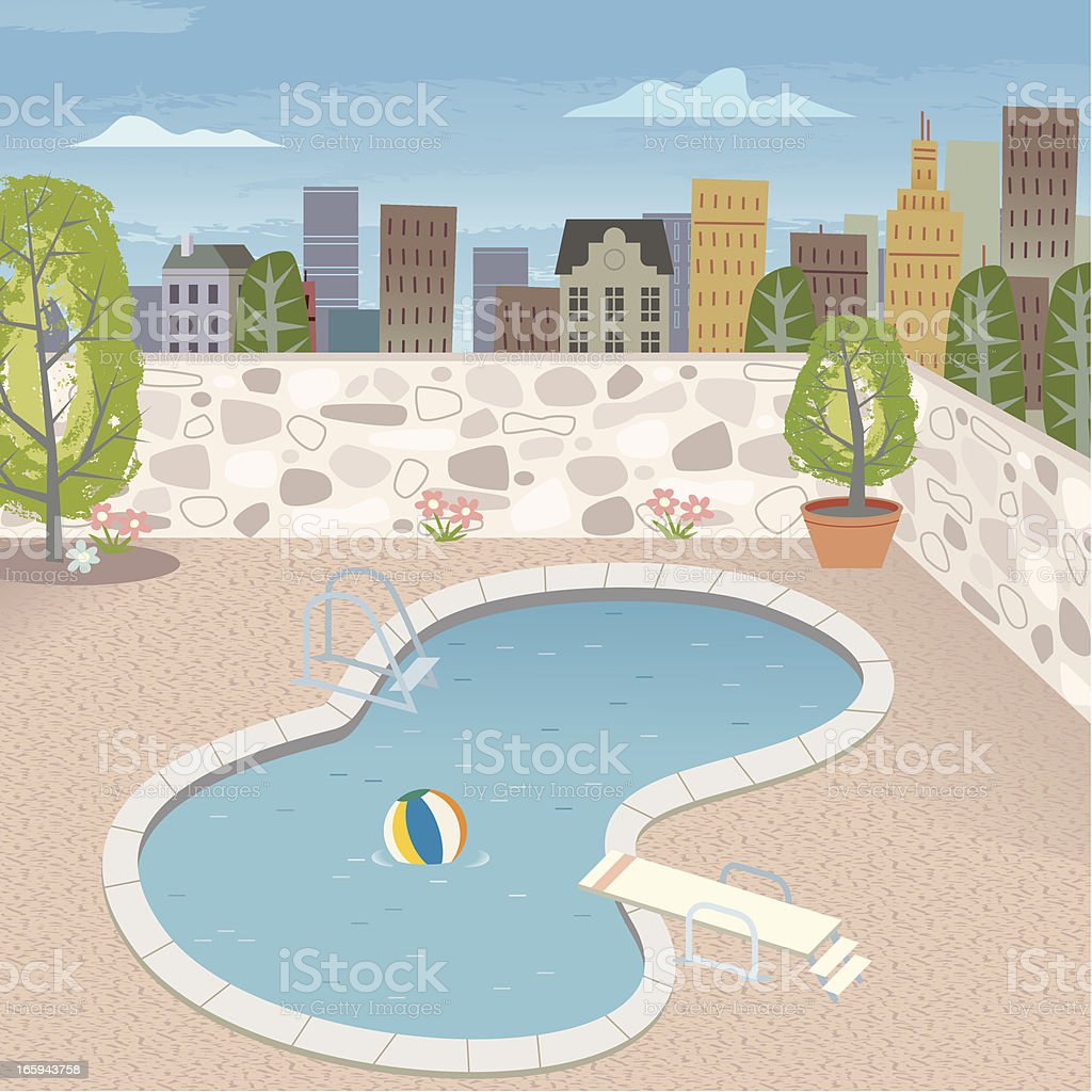 Pool royalty-free pool stock vector art & more images of apartment