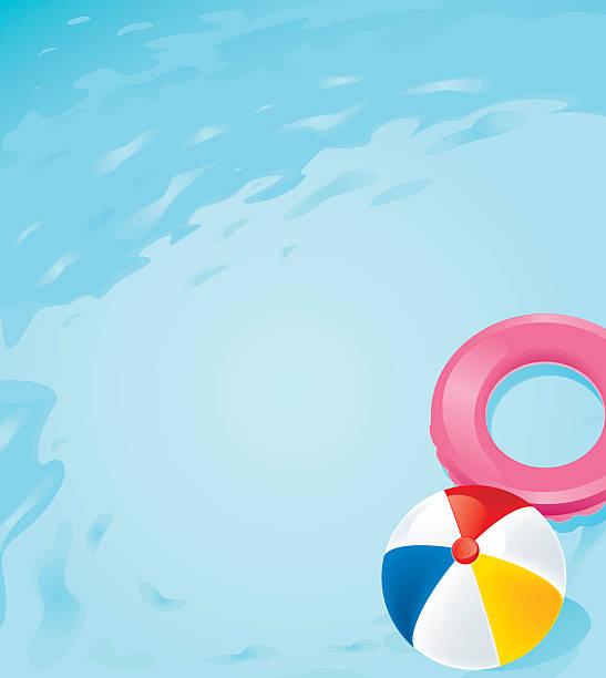 ilustrações de stock, clip art, desenhos animados e ícones de pool - brinquedos na piscina