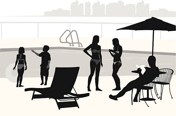 Silhouette Of A Reading Beach Chair Illustrations, Royalty ...