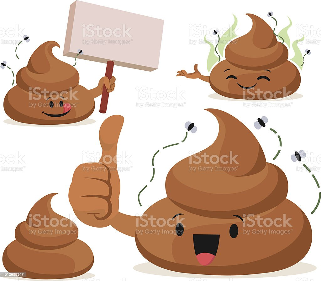 Poop Cartoon Set C vector art illustration