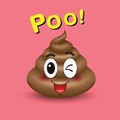 Poop , icon, emoji, vector illustration.
