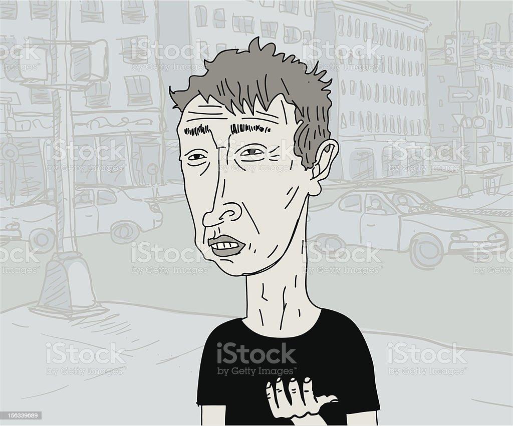 Poor vector art illustration
