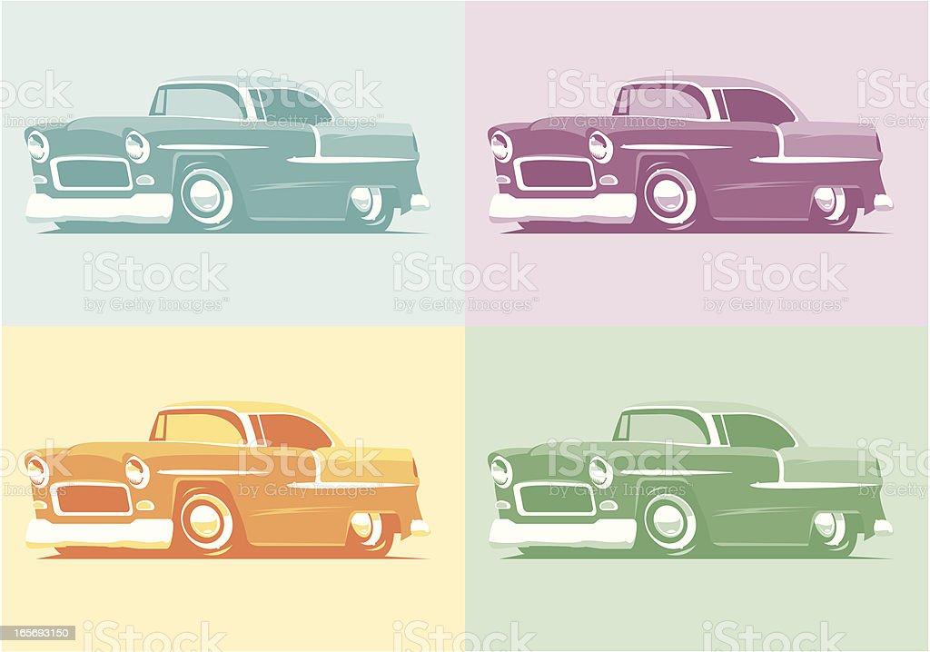 Pop Art 55 Chevys - Royaltyfri 1950-1959 vektorgrafik