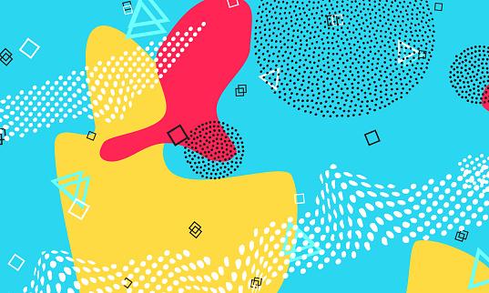 Pop art backdrop  pattern Hipster style 80s