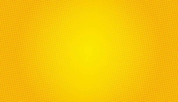 팝 아트 배경. 복고풍 점선 배경. 벡터 그림입니다. 하프톤 옐로우 팝 아트 - 노랑 stock illustrations