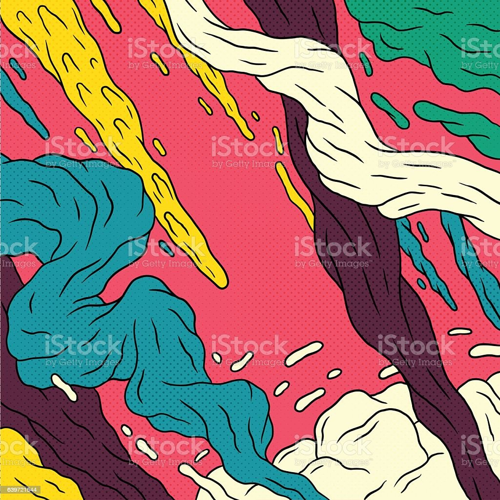 Pop Art Background vector art illustration