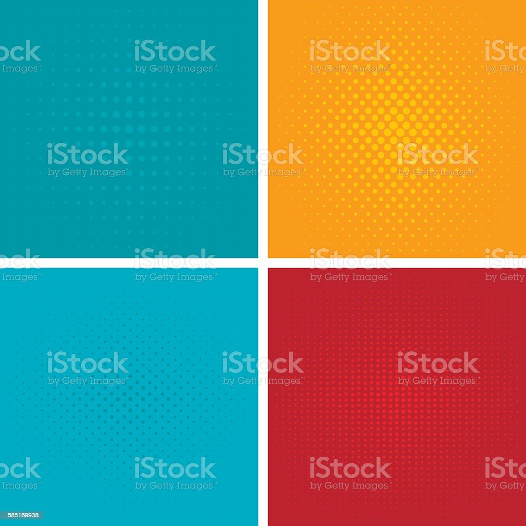 Pop art background vector set. vector art illustration