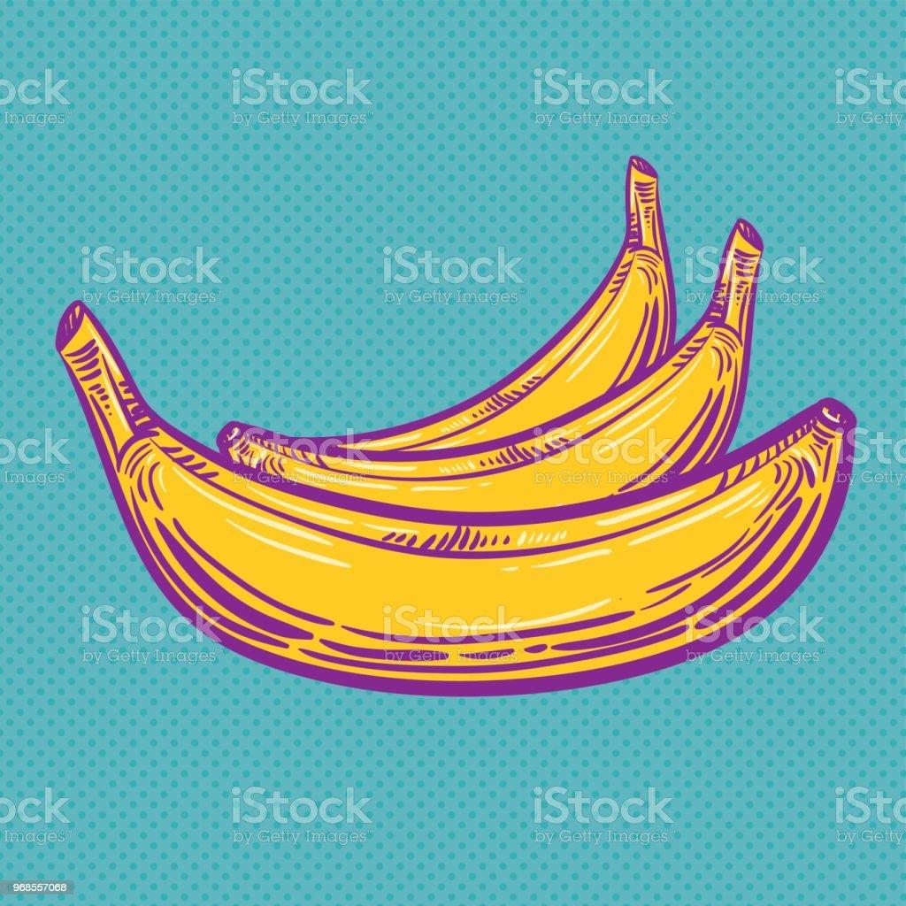 Pop Art Banana - Vector Illustration vector art illustration