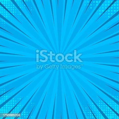 istock Pop art blue on halftone pink backdrop. Abstract retro vector texture. Pop-art texture. Line art. 1295685204