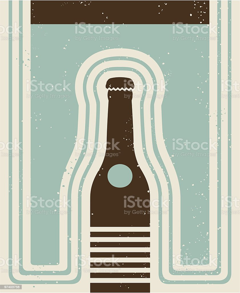 Pop Art Bottle royalty-free stock vector art