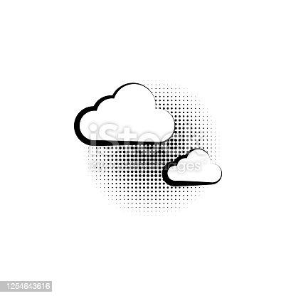 pop art cloud on a vintage background. vector illustration. pop art cloud