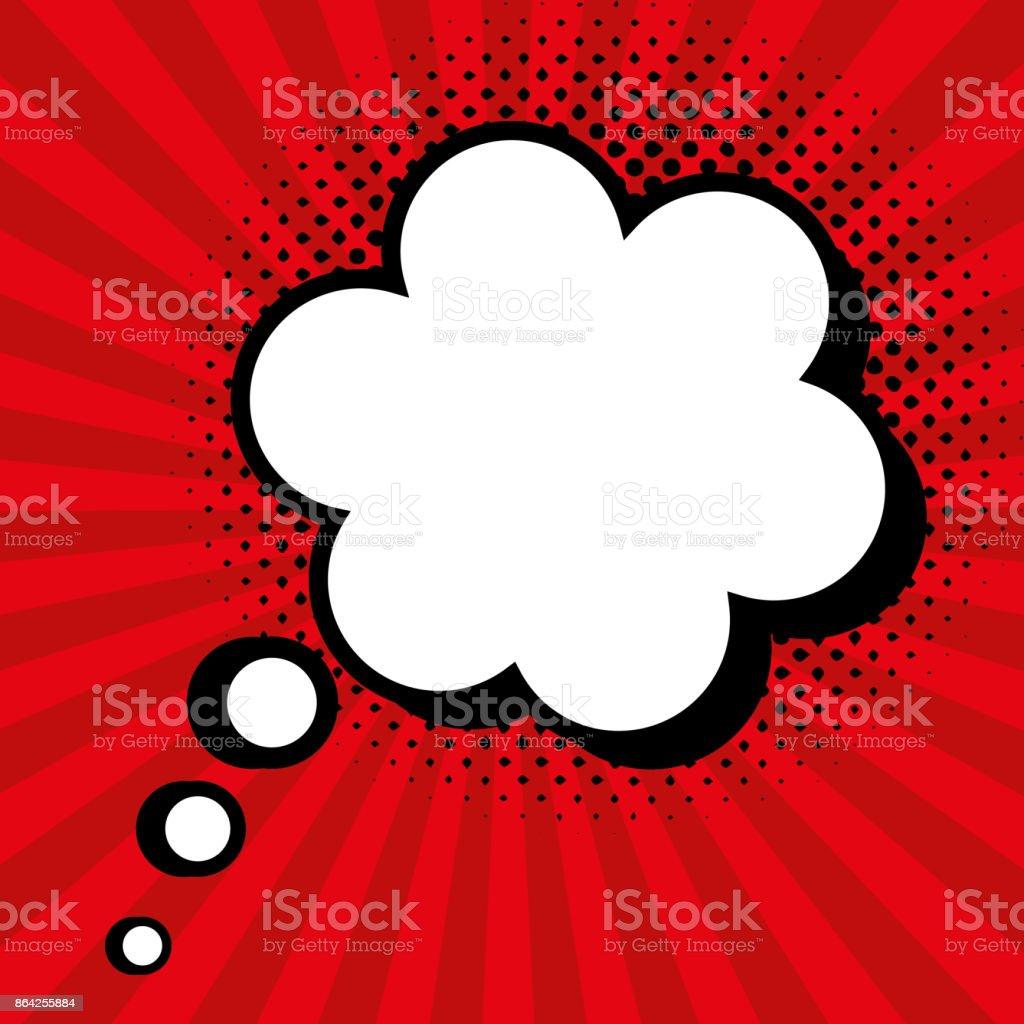 pop art cloud speak red background design royalty-free pop art cloud speak red background design stock vector art & more images of abstract