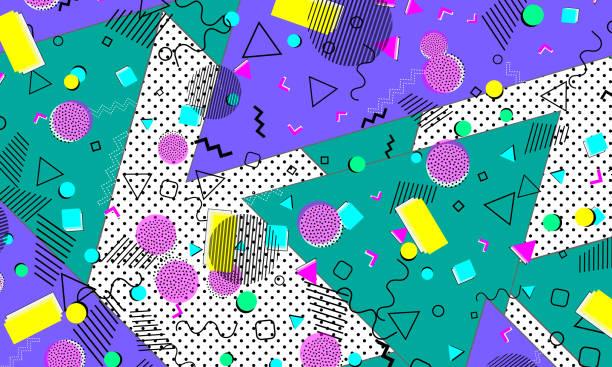 pop art color background. retro pattern - 1990s style stock illustrations