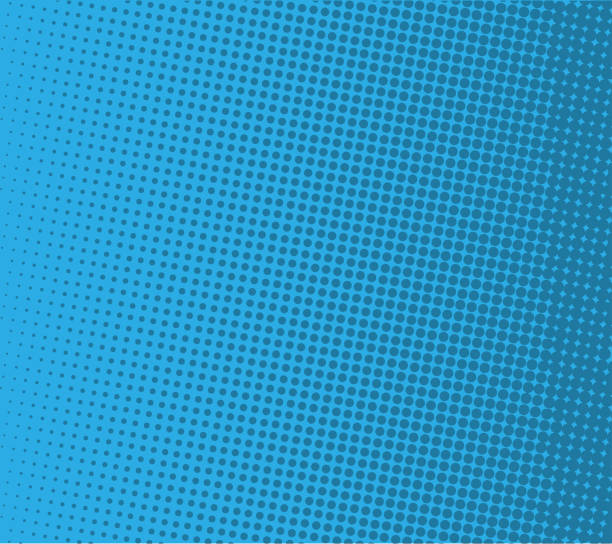 ilustrações de stock, clip art, desenhos animados e ícones de pop art comic background lightning blast halftone dots.vector illustration on blue. halftone retro design background template. - músico popular
