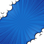 istock Pop art Comic Background. with Cloud and shine bright Vector Illustration. 1269166029