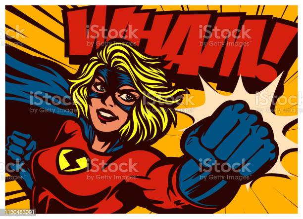 Pop art comic book style superheroine punching female superhero vector id1130483091?b=1&k=6&m=1130483091&s=612x612&h=ahd8te fihqw81wvwsg6iw 34bsqdnk3fdnpmv9zgia=