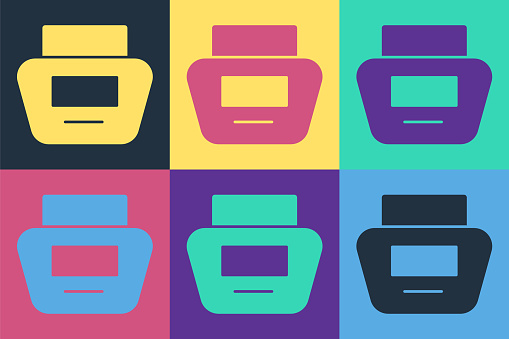 Pop art Cream or lotion cosmetic tube icon isolated on color background. Body care products for men. Vector Illustration