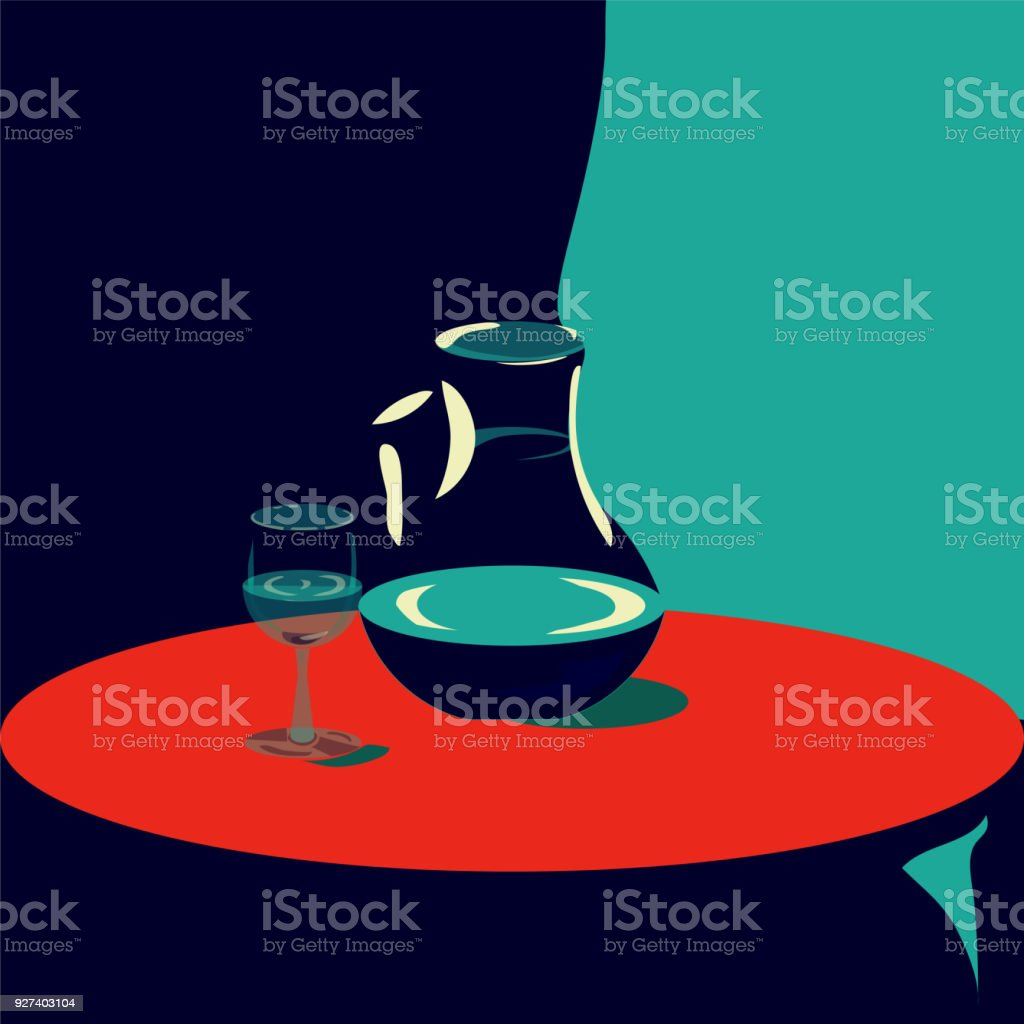 Pop Art Deco Vector Illustration For Hotels Rooms Suits And Restaurant Interior Stock Illustration Download Image Now Istock