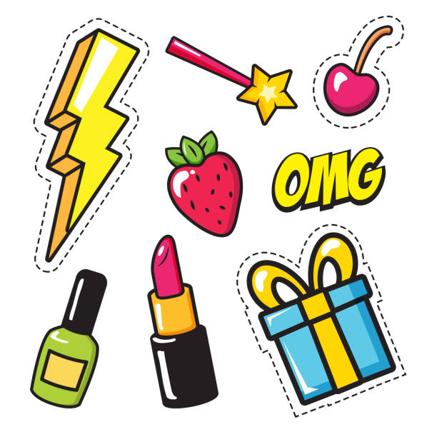 pop art elements vector art illustration