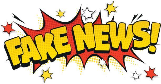 Pop Art Fake News vector art illustration