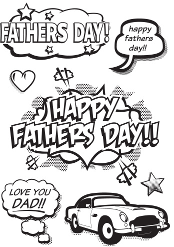 Pop Art Fathers Day Elements