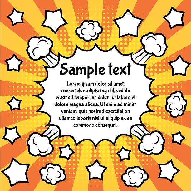 pop art frame - 漫画の子供たち点のイラスト素材/クリップアート素材/マンガ素材/アイコン素材