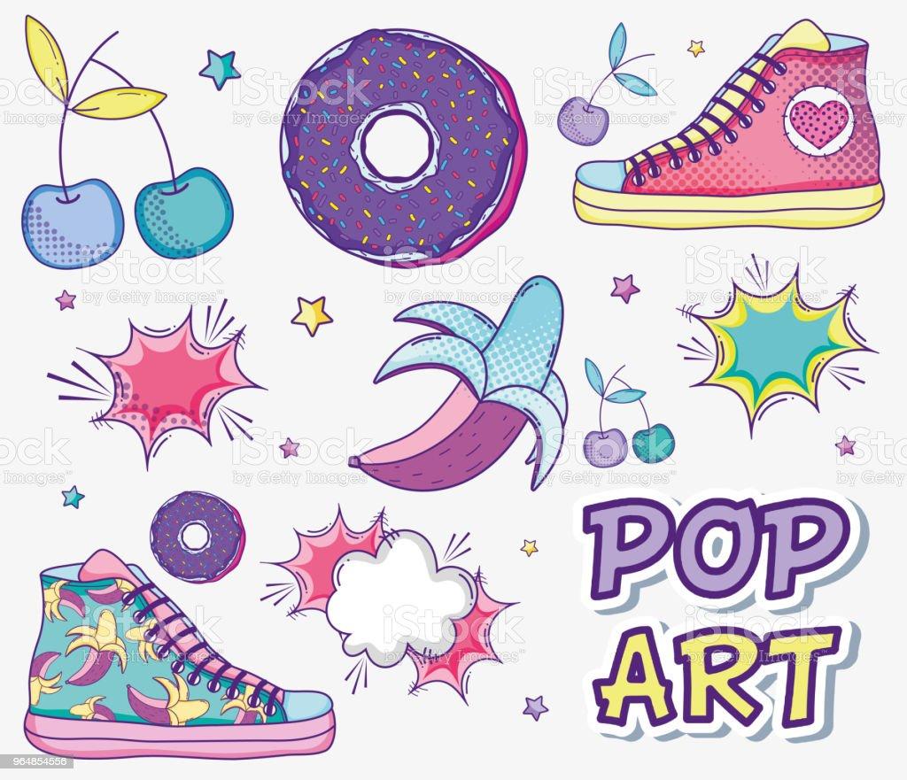 Pop art funny cartoons royalty-free pop art funny cartoons stock illustration - download image now