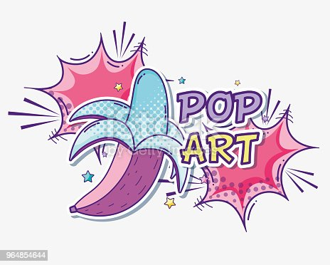 Pop Art Funny Cartoons Stock Vector Art & More Images of Art 964854644