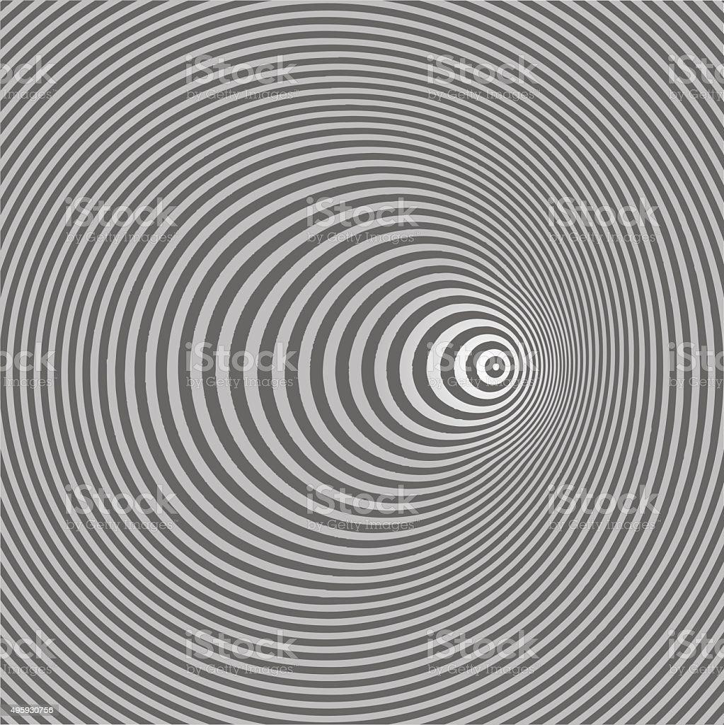 Pop Art Halftone Pattern Concentric Circles vector art illustration